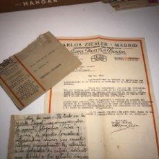 Cámara de fotos: CARTA CORRESPONDENCIA ZEISS IKON AÑO 1941. Lote 173858813