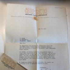 Appareil photos: CARTA CORRESPONDENCIA BUSCH AÑO 1947. Lote 173859185
