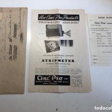 Cámara de fotos: CARTA CORRESPONDENCIA CINE PRO CORPORATION 1947. Lote 173873404