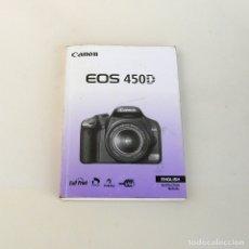 Cámara de fotos: MANUAL DE CAMARA DIGITAL REFLEX CANON EOS 450D-EN INGLES. Lote 174041549