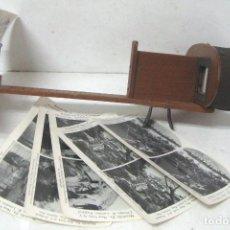 Cámara de fotos: 335--ANTIGUO VISOR ESTEREOSCÓPIO PARA FOTOS EN RELIEVE-SIGLO XIX--NO ES REPRODUCCIÓN-. Lote 174191817