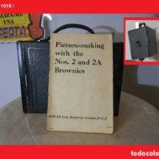 Cámara de fotos: MANUAL PARA KODAK BROWNIES Nº 2 Y Nº 2A COMPLETO CON TODAS SUS PAGINAS (MÁS DE 30 PAG.), DIBUJOS, E. Lote 144293466