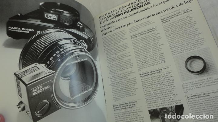 Cámara de fotos: ANTIGUO FOLLETO.CAMARA FOTOGRAFICA.FUJICA GL690 GM670.JAPAN.TEXTO EN ESPAÑOL. - Foto 3 - 174468554