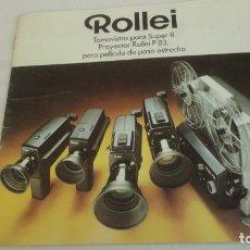 Cámara de fotos: ANTIGUO FOLLETO.TOMASVISTAS ROLLEI SUPER 8.PROYECTOR ROLLEI P83. 1972?. Lote 174468870