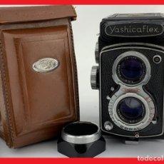 Cámara de fotos: CÁMARA REFLEX DE DOBLE OBJETIVO (TLR) YASHICAFLEX, TRI-LAUSAR 1: 3.5 F = 80 MM, YASHIKOR 1: 3.5 F =. Lote 175280749