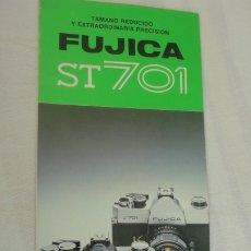 Cámara de fotos: FOLLETO INSTRUCCIONES.CAMARA FOTOGRAFICA.FUJICA ST 701. JAPAN. EN ESPAÑOL.. Lote 175358050