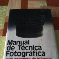 Cámara de fotos: MANUAL DE TÉCNICA FOTOGRAFÍCA - JOHN HEDGECOE ( H. BLUME EDICIÓNES). Lote 175391014