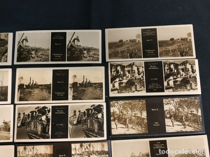 Cámara de fotos: VISOR ESTEREOSCOPICO + 42 IMAGENES / VISTAS, MUCHAS DE ELLAS DE LA 1ª GUERRA MUNDIAL - Foto 8 - 175783137