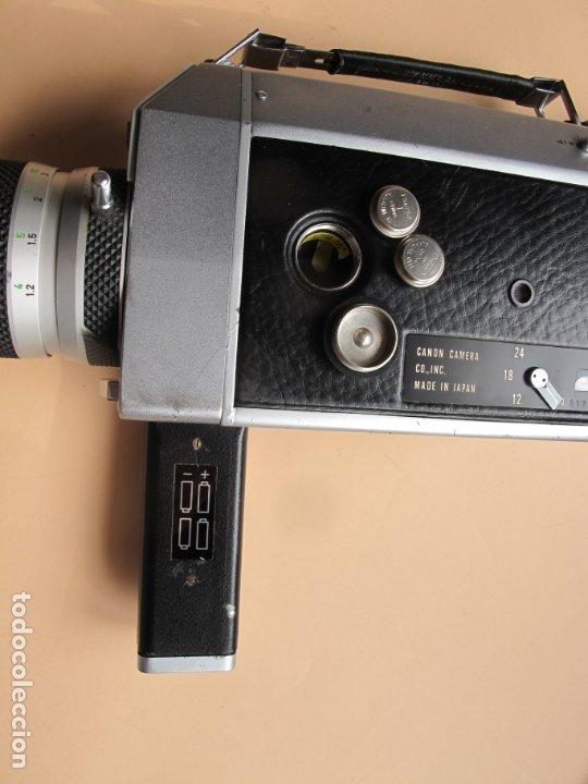 Cámara de fotos: CAMARA DE CINE EN FORMATO SUPER-8 : CANON AUTO ZOOM 814 + ESTUCHE PIEL DE TIPO MALETÍN CON LLAVE - Foto 3 - 176234354