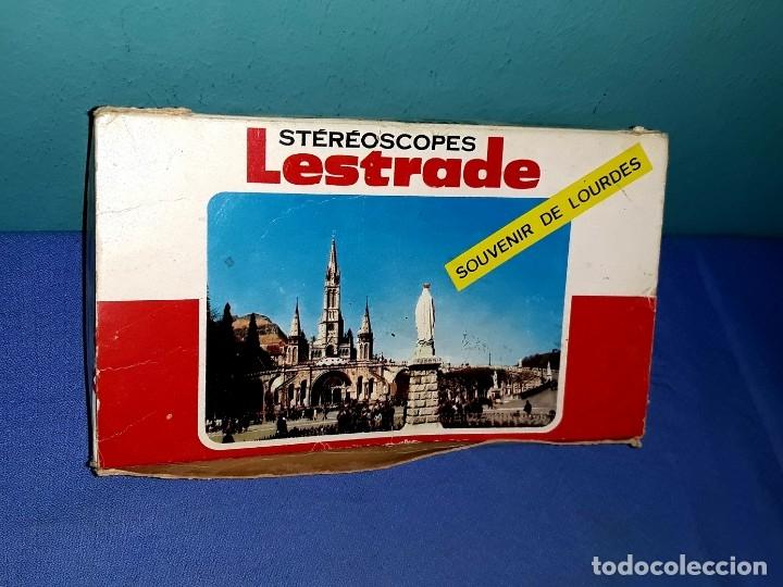 Cámara de fotos: STEREOSCOPE LESTRADE CON SU CAJA DIAPOSITIVAS DE LOURDES EXCELENTE ESTADO VER FOTOS Y DESCRIPCION - Foto 2 - 176272310