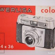 Cámara de fotos: MANUAL DE USUARIO PARA CÁMARA / FOTOS - WERLISA COLOR 24 X 36 - CERTEX - AÑOS 70. Lote 176830430