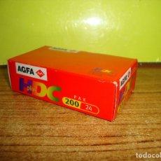 Cámara de fotos: (TC-230-19) CARRETE DE FOTOGRAFIA CADUCADO AGFA HDC PLUS. Lote 177021269