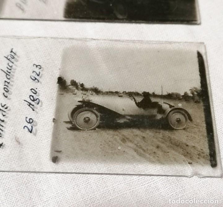 ANTIGUAS FOTOS DE COCHES EN CRISTAL DE 1923 PARA VISOR ESTEREOSCOPICO (Cámaras Fotográficas - Visores Estereoscópicos)