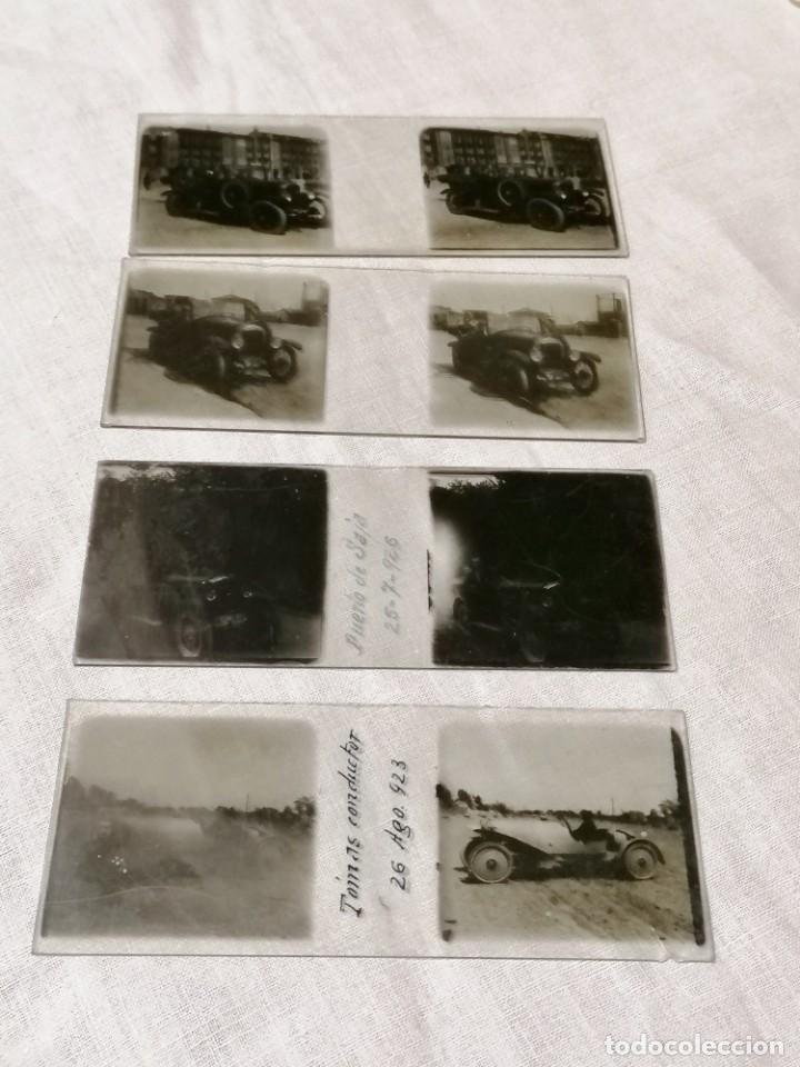 Cámara de fotos: Antiguas fotos de coches en cristal de 1923 para visor estereoscopico - Foto 2 - 177072367
