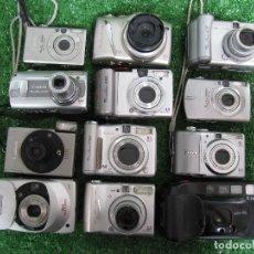 Cámara de fotos: LOTE DESGUACE 11 CAMARAS DIGITALES 1 COMPACTA NIKON NO FUNCIONAN PARA PIEZAS. Lote 177485733