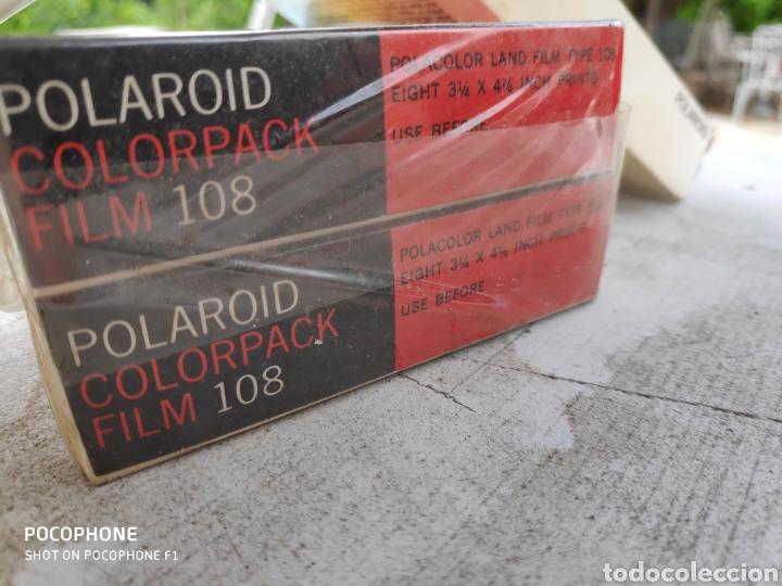 Cámara de fotos: 4 films Polaroid sin abrir colorpack 108 fecha cad decir 1973 - Foto 2 - 177641289