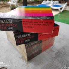 Cámara de fotos: 4 FILMS POLAROID SIN ABRIR COLORPACK 108 FECHA CAD DECIR 1973. Lote 177641289