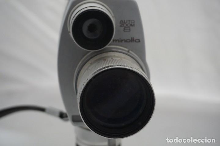 Cámara de fotos: ANTIGUA CAMARA DE CINE MINOLTA AUTO ZOOM 8 TIENE MALETIN DE CUERO ORIGINAL - Foto 4 - 178448871