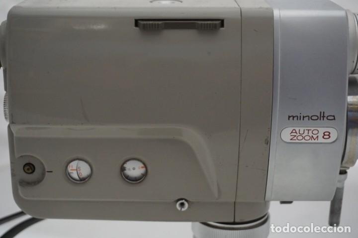 Cámara de fotos: ANTIGUA CAMARA DE CINE MINOLTA AUTO ZOOM 8 TIENE MALETIN DE CUERO ORIGINAL - Foto 6 - 178448871