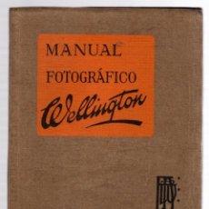 Fotocamere: MANUAL FOTOGRAFICO WELLINGTON. C. 1935. Lote 178763083