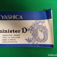 Cámara de fotos: INSTRUCCIONES YASHICA MINISTER D. . Lote 178996841