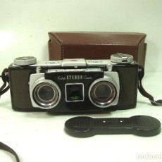 Cámara de fotos: KODAK STEREO 35 MM USA 1954/59 +FUNDA+PROTECTOR ¡¡MUY BUEN ESTADO¡¡ESTERO 3D ESTEREOSCOPICA ANASTON. Lote 179390238
