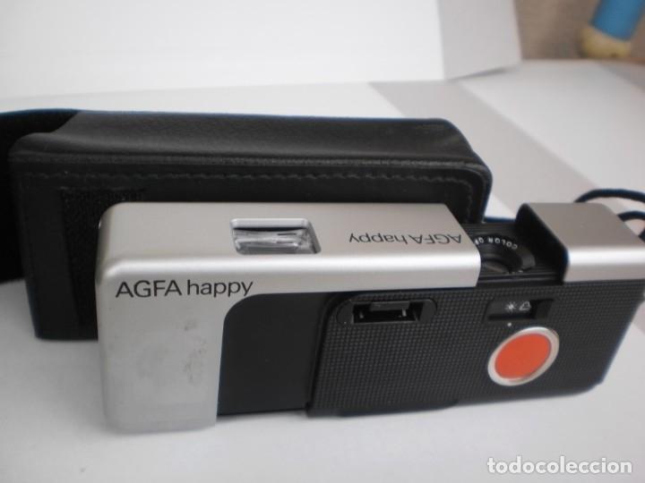 Cámara de fotos: cámara de fotografía agfa happy con funda protectora (estado normal) - Foto 2 - 180259317