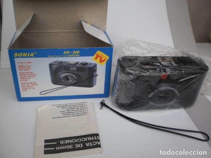 Cámara de fotos: cámara fotográfica sonia sn-308 compacta 35 mm (precintada y con manual de instrucciones) - Foto 2 - 180259877