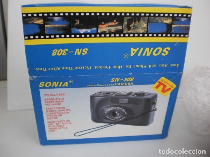 Cámara de fotos: cámara fotográfica sonia sn-308 compacta 35 mm (precintada y con manual de instrucciones) - Foto 3 - 180259877