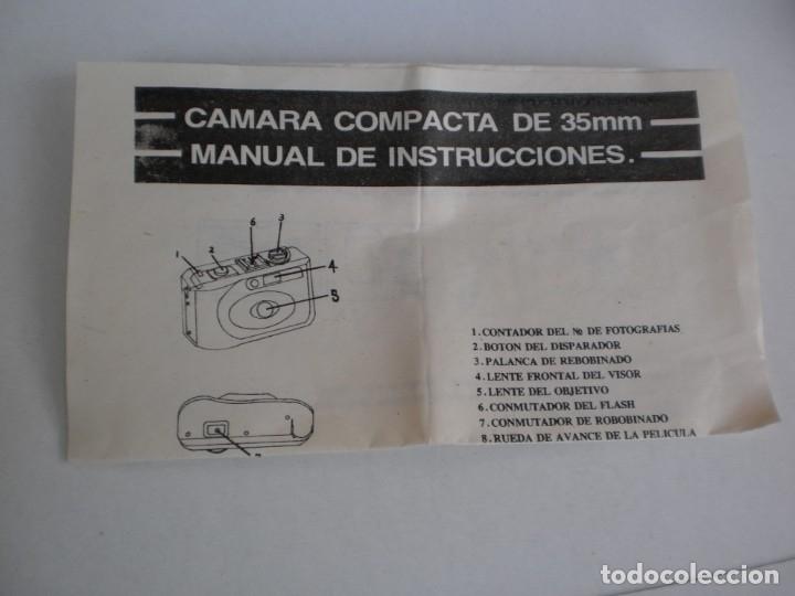 Cámara de fotos: cámara fotográfica sonia sn-308 compacta 35 mm (precintada y con manual de instrucciones) - Foto 4 - 180259877