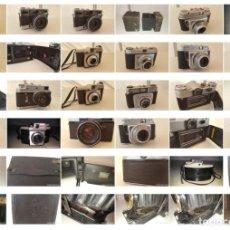 Cámara de fotos: GRAN LOTE DE CAMARAS DE FOTO VINTAGE KODAK, ZENIT, ZORKI, ENSIGN, FRANKA, BALDIXETTE, BIERETTE. Lote 180325660