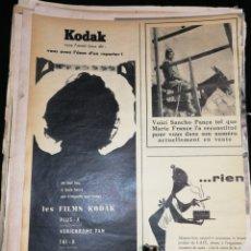 Cámara de fotos: PUBLICIDAD ANTIGUA KODAK - PATHE 1957. Lote 181628176
