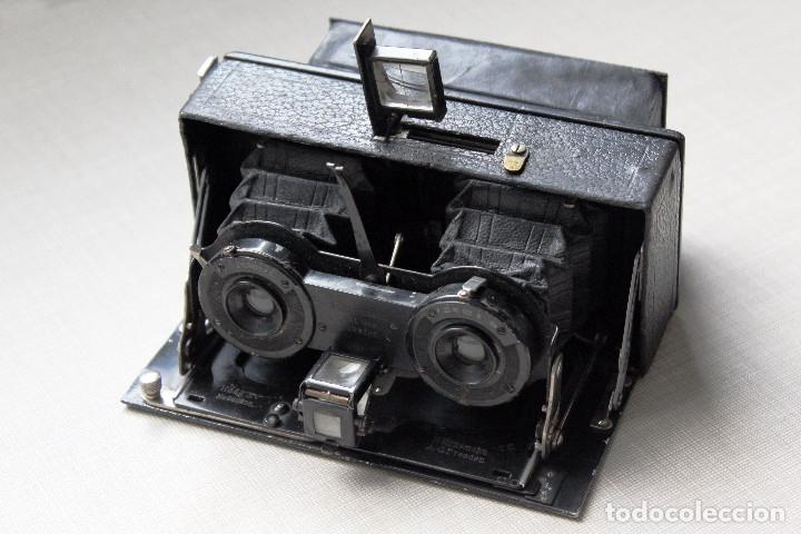 Cámara de fotos: Ernemann HEAG XV Stereo. Super escasa!! Estereo, madera. - Foto 2 - 182298746
