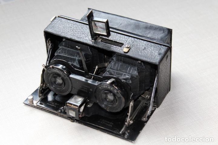 Cámara de fotos: Ernemann HEAG XV Stereo. Super escasa!! Estereo, madera. - Foto 4 - 182298746