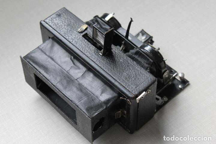 Cámara de fotos: Ernemann HEAG XV Stereo. Super escasa!! Estereo, madera. - Foto 7 - 182298746