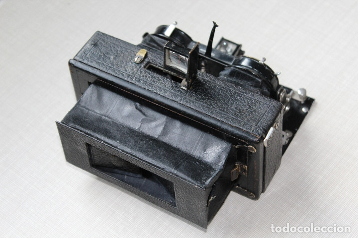 Cámara de fotos: Ernemann HEAG XV Stereo. Super escasa!! Estereo, madera. - Foto 8 - 182298746