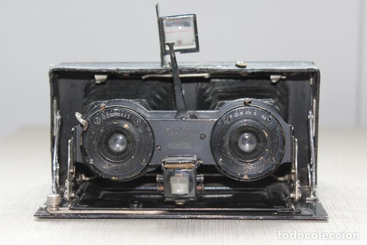 Cámara de fotos: Ernemann HEAG XV Stereo. Super escasa!! Estereo, madera. - Foto 15 - 182298746
