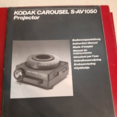 Cámara de fotos: CATÁLOGOS KODAK CARRUSEL PROYECTOR S AV 1950. Lote 182311717
