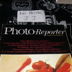 Cámara de fotos: REVISTA FRANCIA PHOTO REPORTER 22 AÑO 1977 POLAROID PHOTOKINA FOTOS DESNUDOS ARTÍSTICO MUJER. Lote 182695572