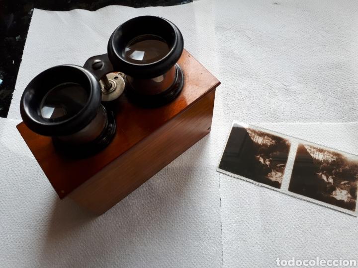 Cámara de fotos: Antigua Esteroscopia o Visor cristal de ( 60x113) m/m - Foto 3 - 182850968