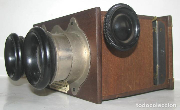 Cámara de fotos: MUY ANTIGUO VISOR ESTEREOSCÓPIO PARA VER FOTOGRAFÍAS EN RELIEVE-3D.SIGLO XIX-MARCA VERASCOPE RICHARD - Foto 2 - 182972560
