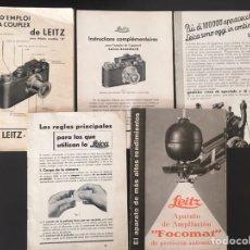 Cámara de fotos: LOT DE 6 CATÀLEGS DE LEICA, ANYS 30. Lote 183366143