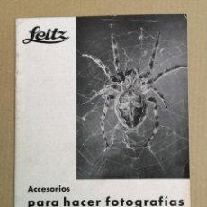 Cámara de fotos: LEICA CATÁLOGO 1936. Lote 183392072