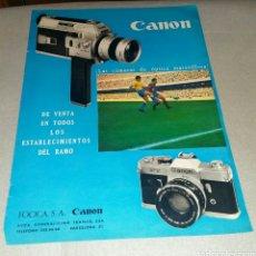 Cámara de fotos: PUBLICIDAD CANON AÑOS 60. Lote 183531213