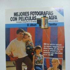 Cámara de fotos: MEJORES FOTOGRAFÍAS CON PELÍCULAS AGFA. Nº 6. CONSEJOS FOTOGRÁFICOS EN FICHAS COLECCIONABLES. . Lote 184093390