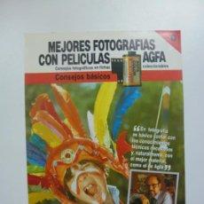Cámara de fotos: MEJORES FOTOGRAFÍAS CON PELÍCULAS AGFA. Nº 0. CONSEJOS FOTOGRÁFICOS EN FICHAS COLECCIONABLES. . Lote 184093607