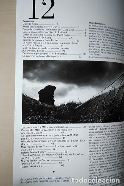 Cámara de fotos: Pentax Family 12. Portada Helmut Newton. Sher Jang Singh, Trevern Dawes… 1977 - Foto 3 - 184586190