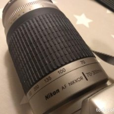 Cámara de fotos: CAMARA NIKON F65 CON 2 OBJETIVOS 28-80 MM Y 70-300 MM. Lote 184732430