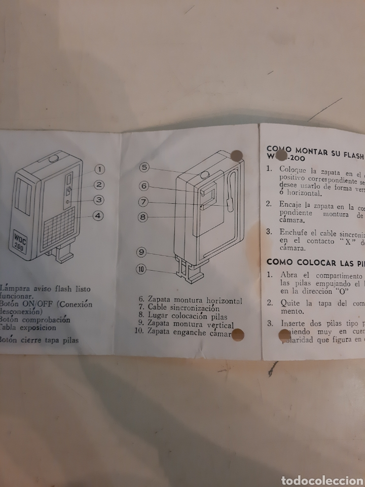 Cámara de fotos: Instrucciones flash eletronico WOC 200 - Foto 2 - 184761393