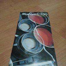 Appareil photos: CATALOGO DE MAMIYA C330. Lote 186240813